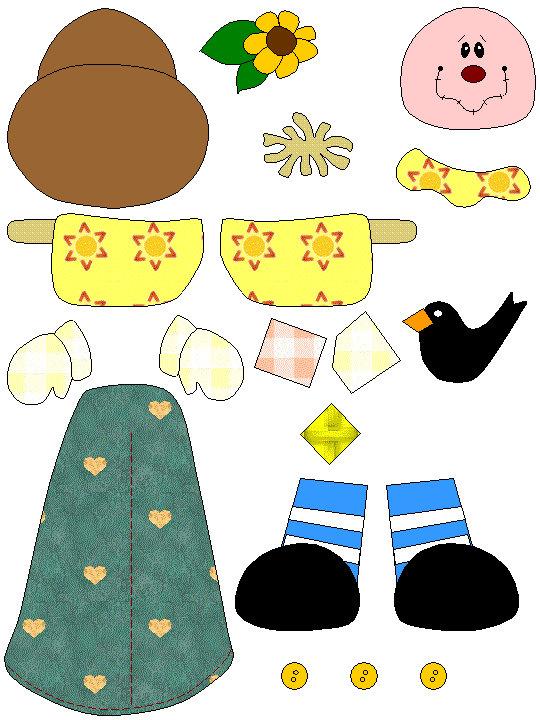 0b9990618d704b62dea206ea2fc35c3e Recortables de muñecos para montar para niños