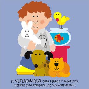 Poesías infantiles de profesiones y oficios veterinario