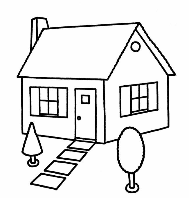 Dibujos de casas para colorear y pintar para niños