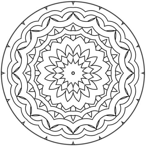 Mandalas para imprimir, colorear y pintar