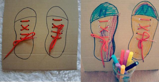 Aprender a atarse los cordones de los zapatos