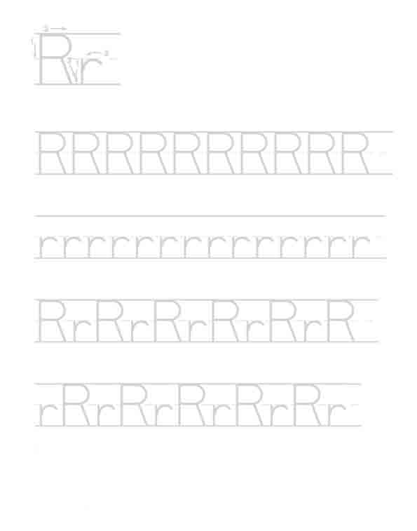 Fichas de caligrafía del abecedario