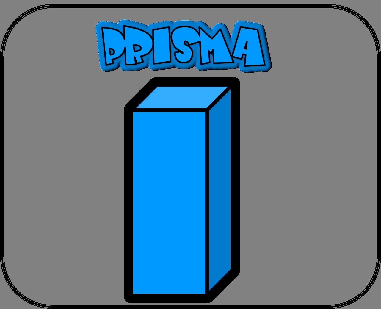 Carteles de las figuras geométricas prisma