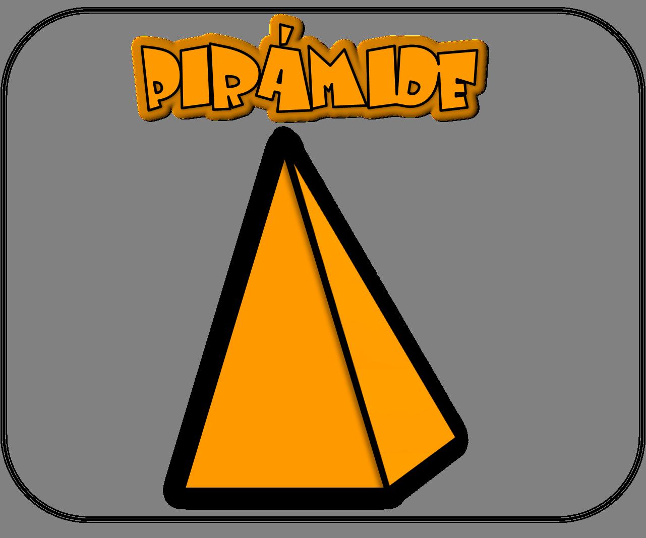 Carteles de las figuras geométricas pirámide