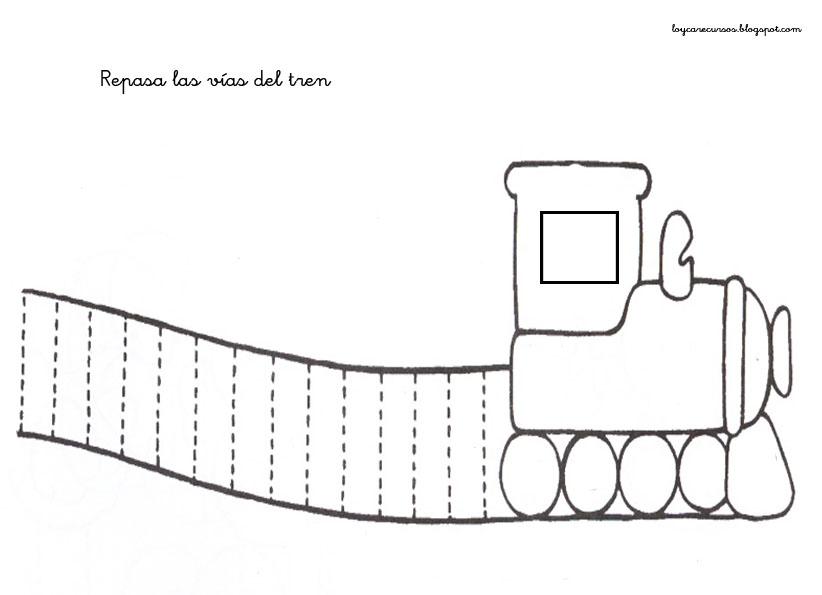 tren Fichas para practicar los trazos verticales y horizontales