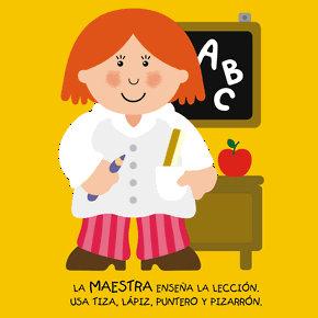 Poesías infantiles de profesiones y oficios maestra
