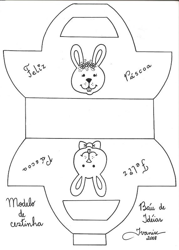 cesta de huevos Manualidades y recortables de la Pascua