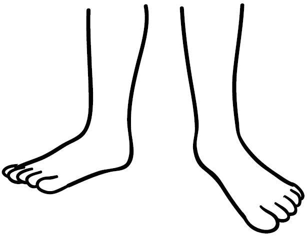 Dibujos de las partes del cuerpo humano pies