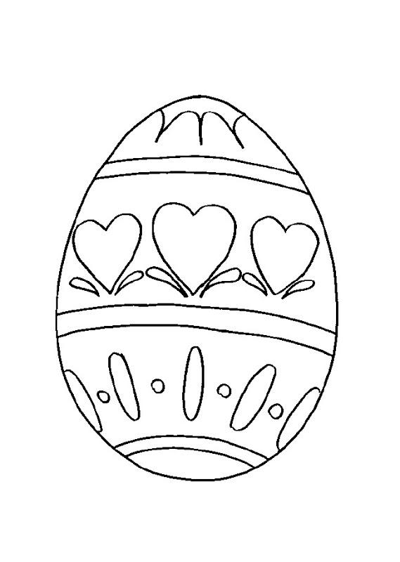 Colorear conejos y huevos de Pascua