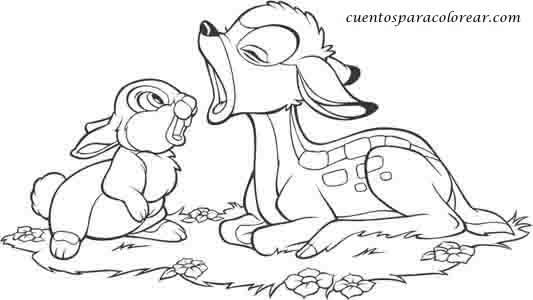 Dibujos de Bambi Disney para colorear e imprimir