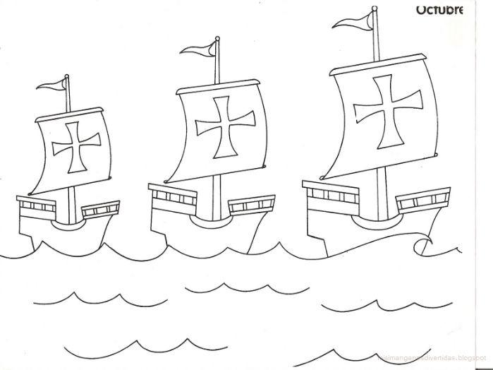 Dibujos para colorear de Cristobal Colón