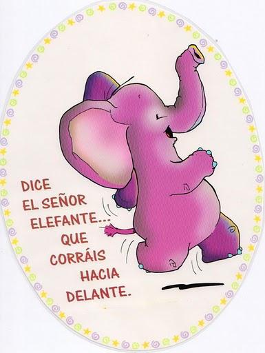 Jugar a imitar a los animales elefante
