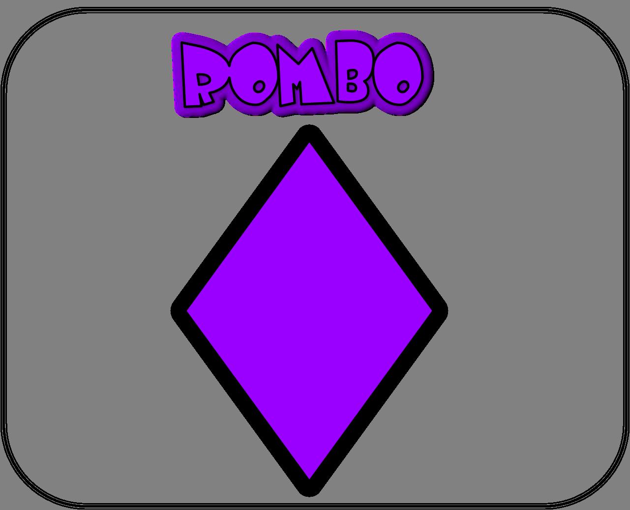 Carteles de las figuras geométricas rombo
