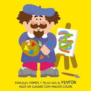Poesías infantiles de profesiones y oficios pintor