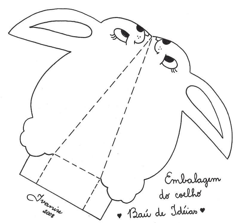 conejo Manualidades y recortables de la Pascua