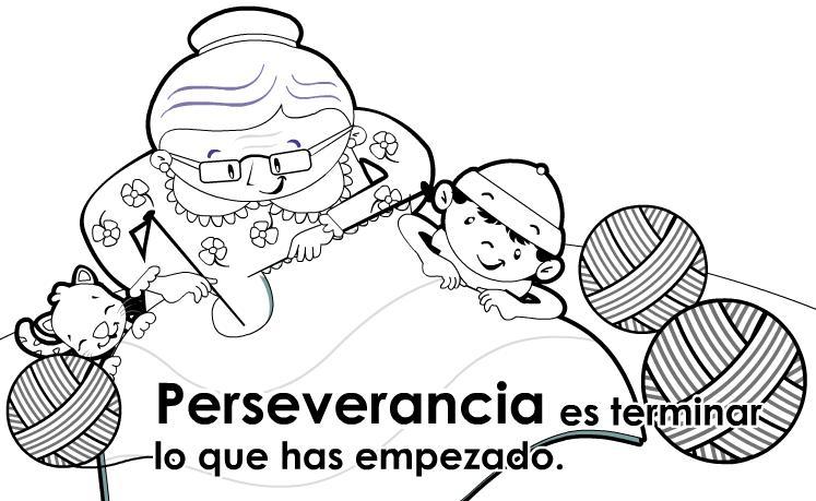 Láminas de educar en valores perseverancia