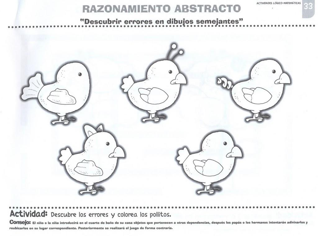 Dibujos de buscar las diferencias