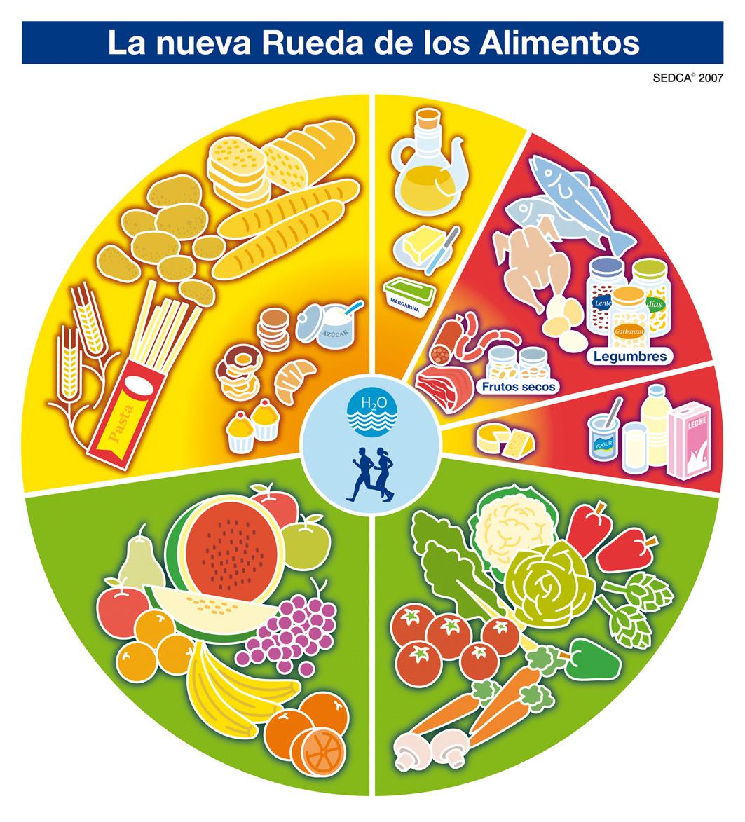 El trompo de los alimentos para niños