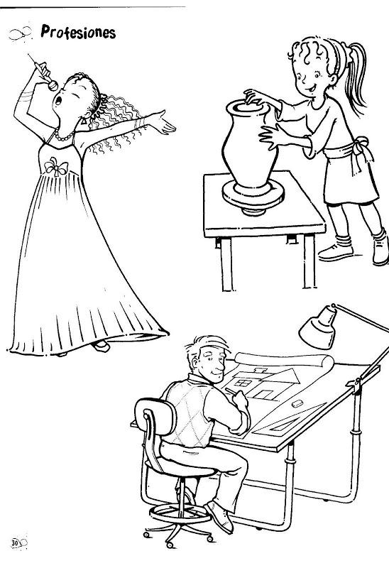 Dibujos para colorear de oficios artista