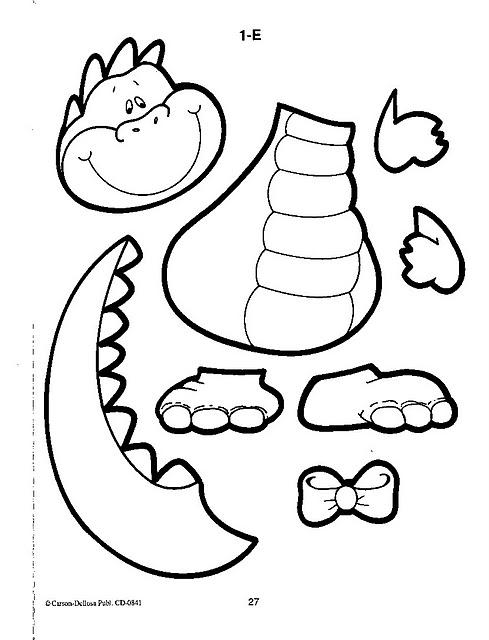 Fichas educativas de dinosaurios para niños