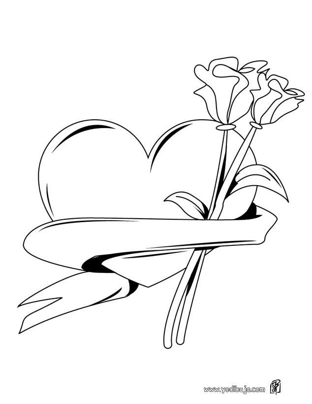 Dibujos para colorear de corazones
