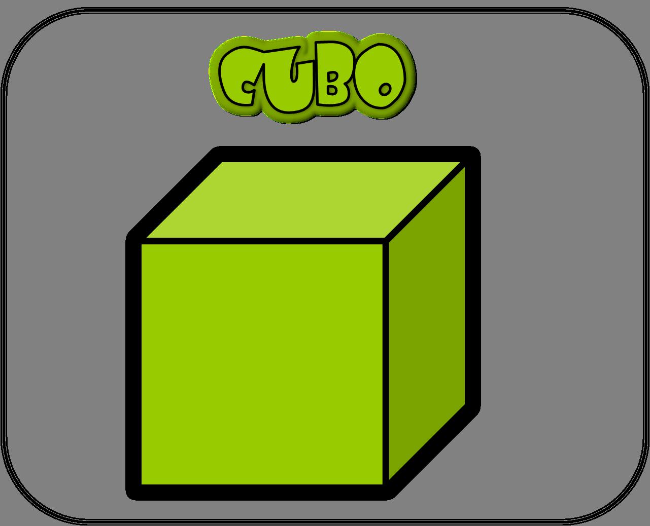 Carteles de las figuras geométricas cubo