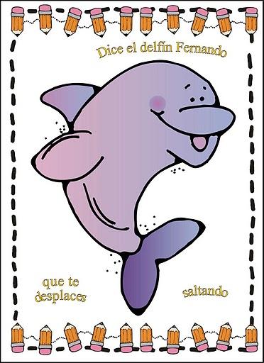 Jugar a imitar a los animales delfín