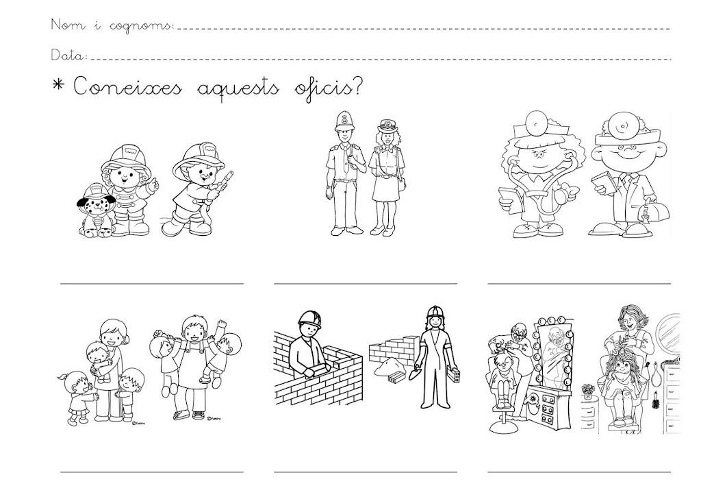 Dibujos De Oficios Y Profesiones Para Colorear E Imprimir