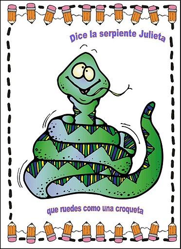 Jugar a imitar a los animales serpiente