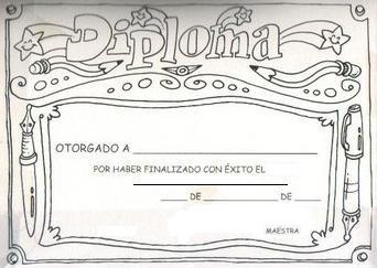 Diplomas infantiles