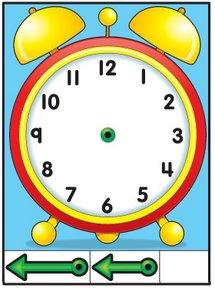 Reloj recortable para aprender las horas