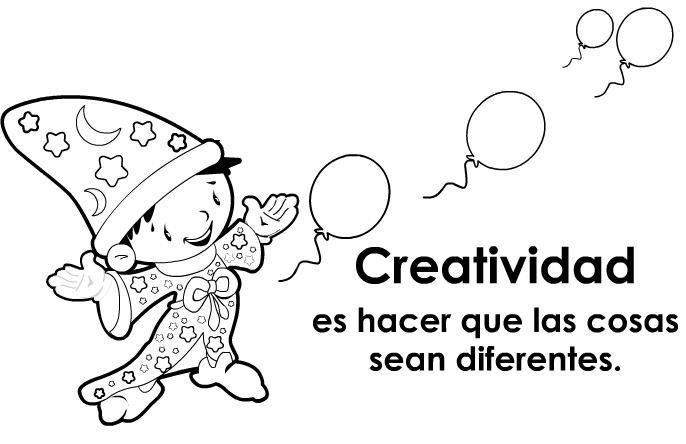Láminas de educar en valores creatividad