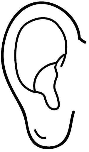 Dibujos de las partes del cuerpo humano oreja