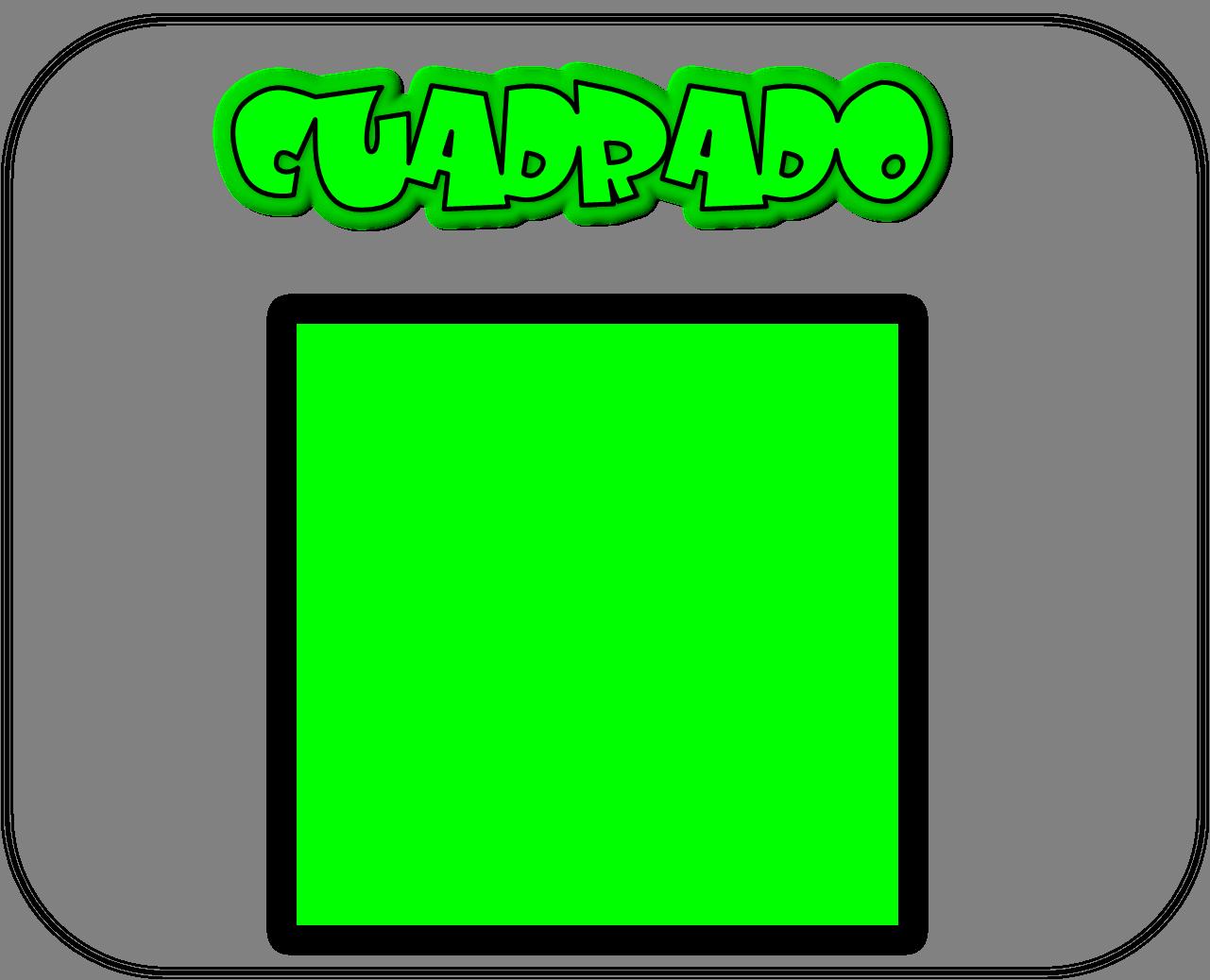 Carteles de las figuras geométricas cuadrado