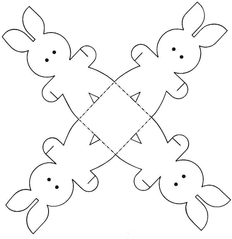 Manualidades y recortables de la Pascua para niños