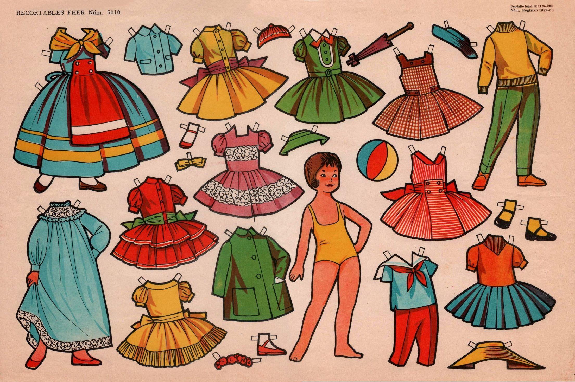 Muñecas De Papel Para Recortar Y Vestir