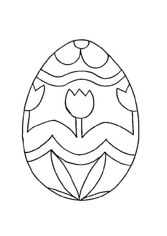 Colorear de conejos y huevos de pascua