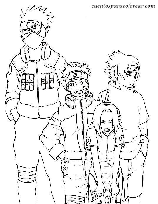 Juegos para pintar de al zorro de las 5 colas Naruto - Imagui