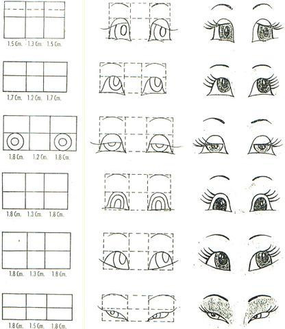 Como dibujar ojos y caricaturas de los ojos