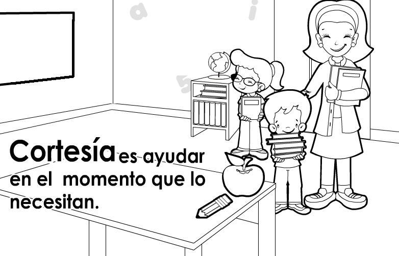 Dibujos para colorear de educacion civica - Imagui