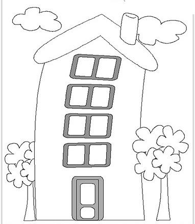 Dibujos de casas para colorear y pintar