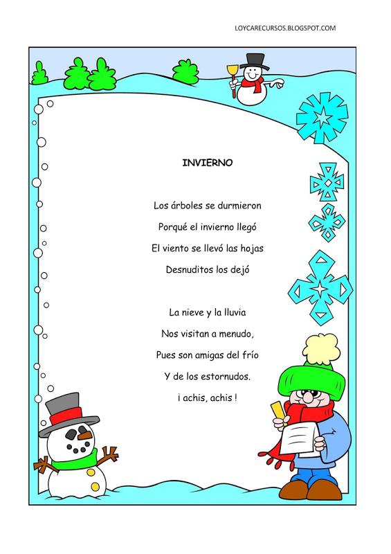 Poemas y rimas infantiles del inviernoWIKIPEKES para niños
