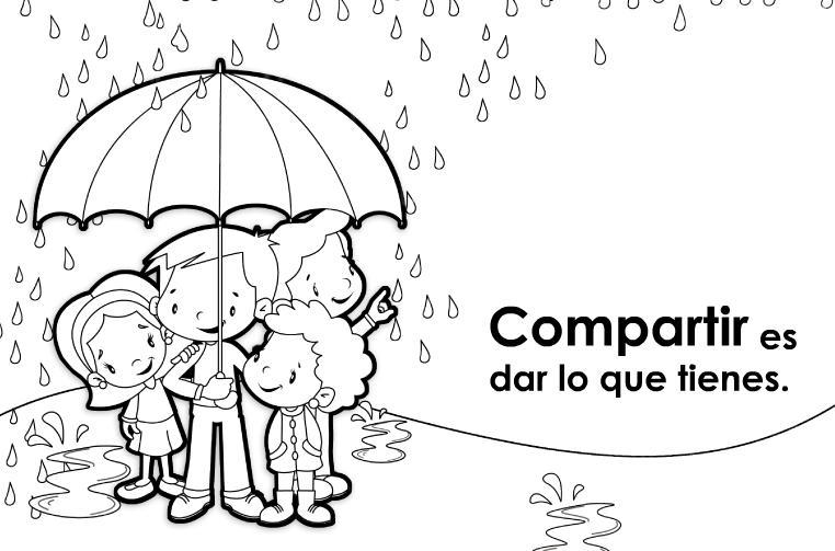 Dibujos para colorear sobre la solidaridad - Imagui