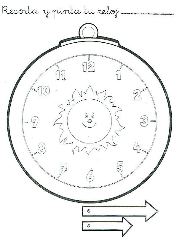 Reloj para armar para niños - Imagui
