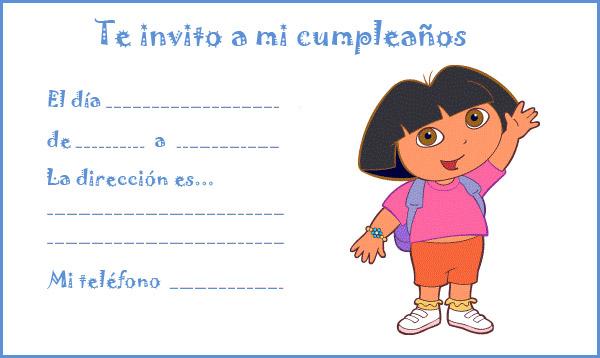 material escolar de infantil tarjetas de invitacion de cumpleanos