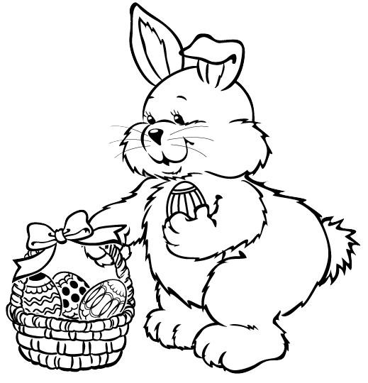 Dibujos para colorear de conejitos bebés - Imagui