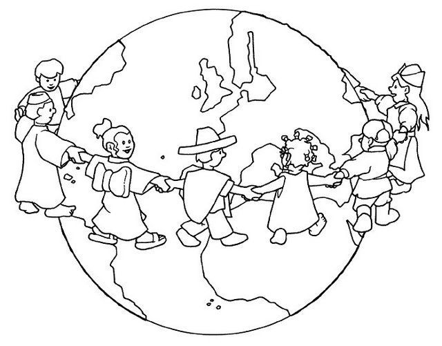 Dibujos Del D  A De La Tierra Para Colorear Para Ni  Os