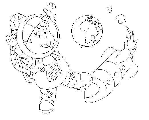 Dibujo De Astronauta Para Nios. Astronauta With Dibujo De Astronauta ...
