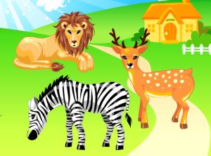 El juego de los animales del Zoo