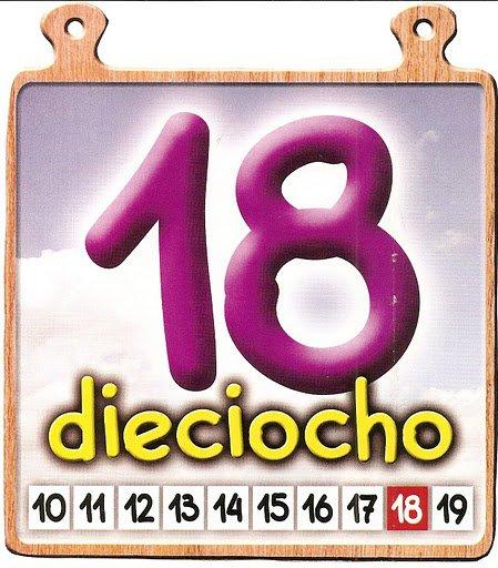 18 Los números del 11 al 20